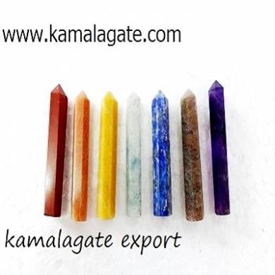 Seven Chakra Gemstone Point Set Wholesale Set