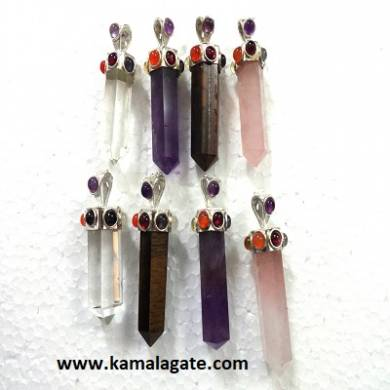 Seven Chakra stone embedded Assorted pencil pendants
