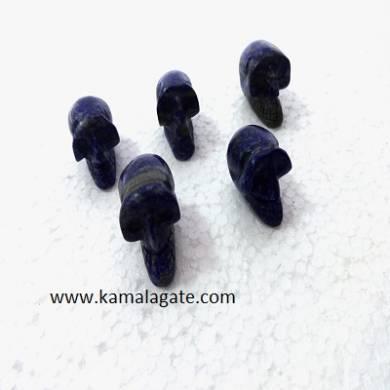 Lapis Lazuli skulls