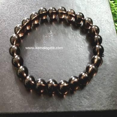 Smokey Quartz 8mm Beads Bracelet
