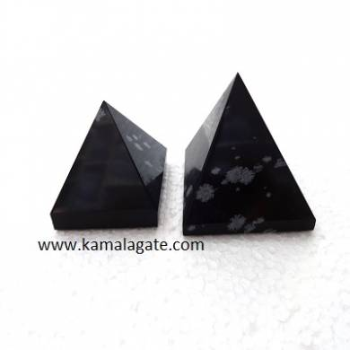 Snow Flake Obsidean Big Pyramids