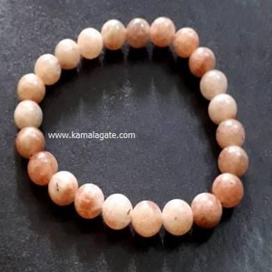Sunstone 8mm Beads Bracelet
