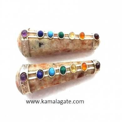 Sunstone Seven Chakra Healing Wands