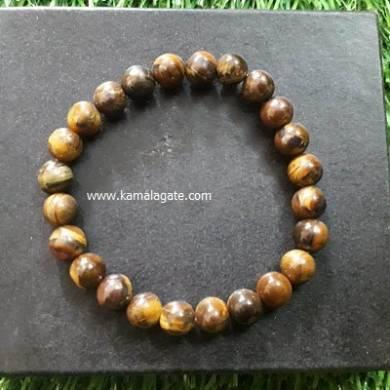 Tiger Eye 8mm Beads Bracelet