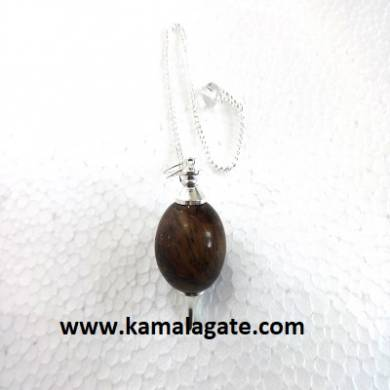 Tiger Eye Ball Pendulum (Silver)