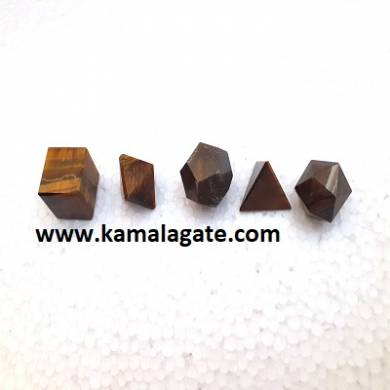 Tiger Eye Five Pieces Geometry Sets