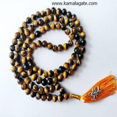 Tiger Eye Jap Mala 108 Beads Prayer Beads