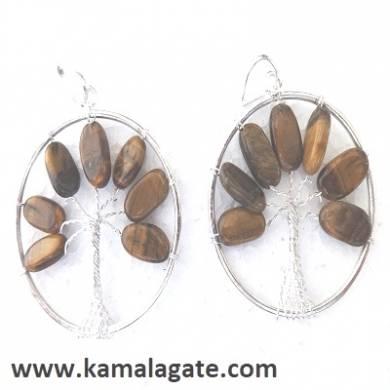 Tiger Eye Tree Of Life Pendant (silver)