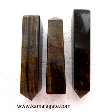 Tiger Eye Gemstone Towers