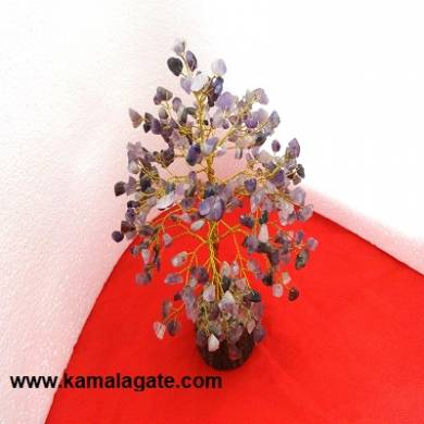 Tree Amethyst With Golden Metal Works