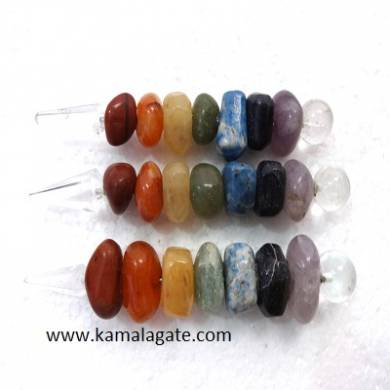 Tumble chakra Healing Stick With Pyramid