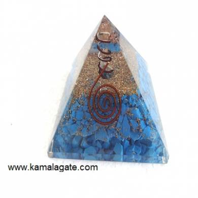 Turquoise Orgone Pyramid With Quartz Point [big]