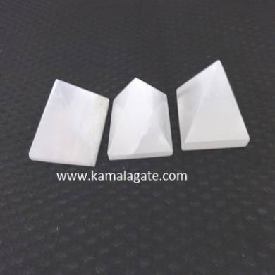 White Senelite Small Pyramid