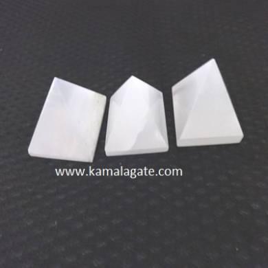 White Senelite Small Pyramid