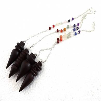 Rose Wood Pendulum With Seven Chakra Chain