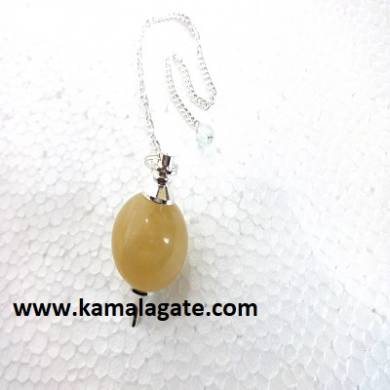 Yellow Aventurine Ball Pendulum (Silver)