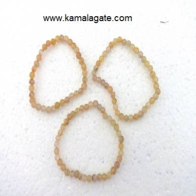 Yellow Aventurine Gemstone Beads Elastic Bracelets