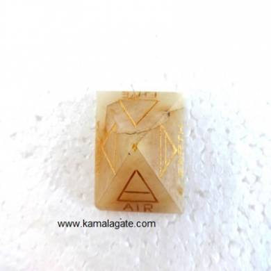 Yellow Aventurine Pyramid 4 Element