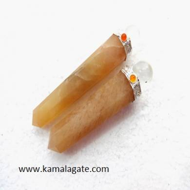 Yellow Aventurine Healings Wands With Crystal ball