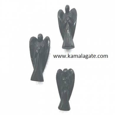 Black Turmoline angels 2 inch