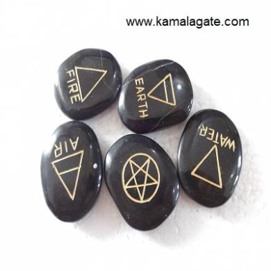 Black Jasper Engraved Four Elements Sets