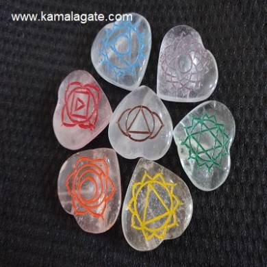 Crystal Quartz Colorful Heartz Chakra Sets