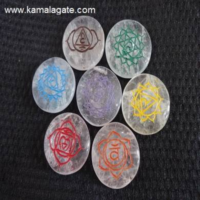 Crystal Quartz Colorful Round Sanskrit Sets