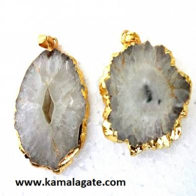 crystal quartz electroplating energy pendants