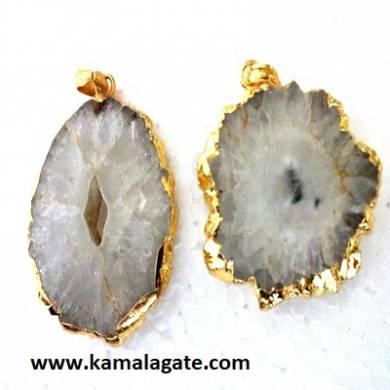 crystal quartz electroplating energy pendants