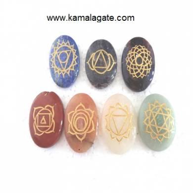 Engraved Oval Chakra Sets