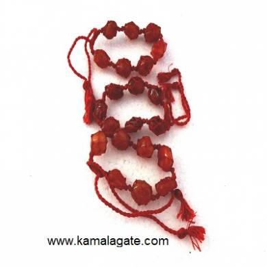 Red Cardelian Tumble stone Bracelets