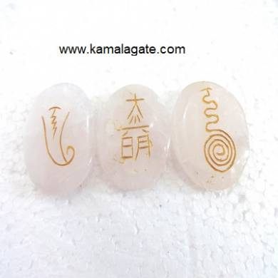 Rose Quartz Reiki Sets Three Pcs
