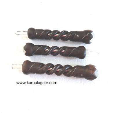 RoseWood Sprial Healing Stick