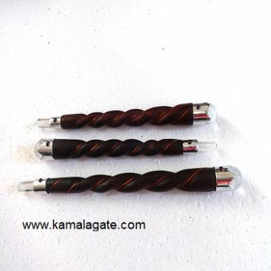 Rosewood Twisted Healing Stick With Copper wire